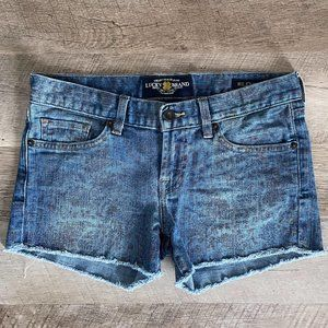 Lucky Brand Riley Wild Flower Paisley Jean Shorts